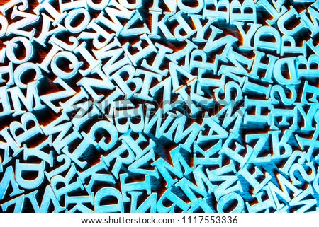 background from the letters of the alphabet. abstraction from letters. letters of the alphabet. #1117553336
