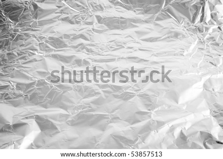 Background from wrinkled aluminum foil for cooking