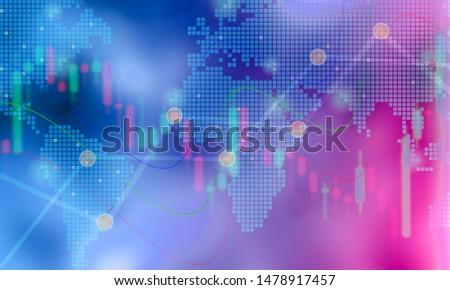 Background graph stock market financial market forex market