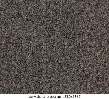 Background grey car mat set isolated on white