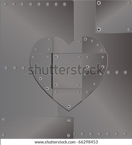 background heart iron