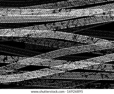 Background illustration of tire tracks
