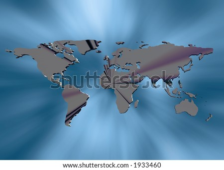 Background, illustration of  world map in background. Communication concept.