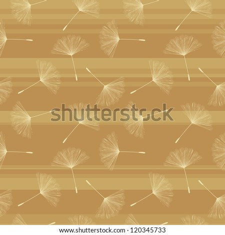 Background illustration with dandelion seed in pastel tones. Seamless background.