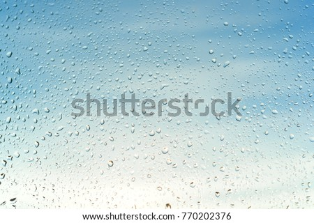 Background image - abstract rain drops on a sunny window, textures.