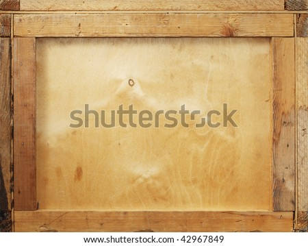Background image of an old wooden crate