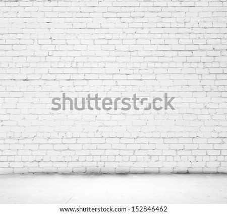 Background image of blank white brick wall