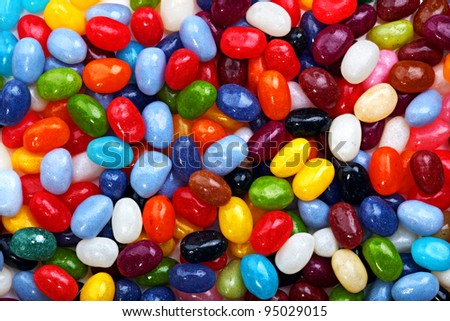 Background image of brightly coloured jelly beans