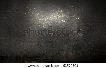 Background image of dark blank wall. Place for text #153592508