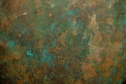 Background image of old copper vessel texture.
