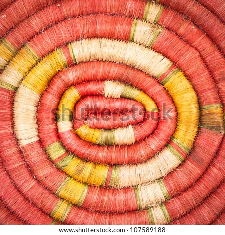 Background image of rolled natural fibre material