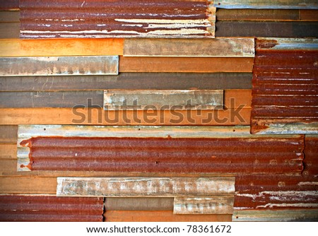 background image of rusty corrugated metal iron sheets