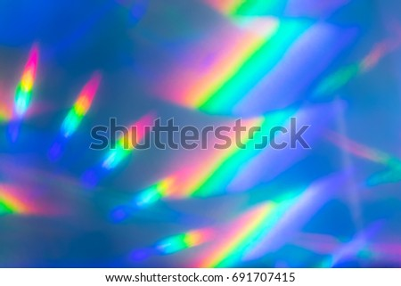 Background image refraction of light