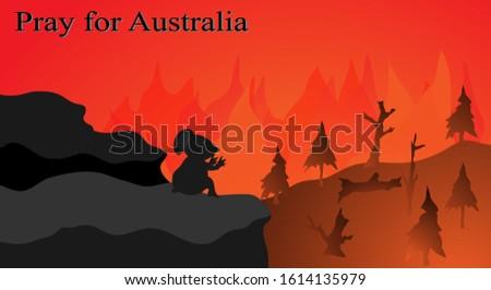Background image showing prayer for Australia