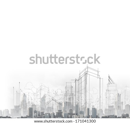 Shutterstock Background image with drawings of modern city