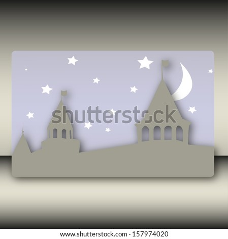 background image with the castle in the night sky