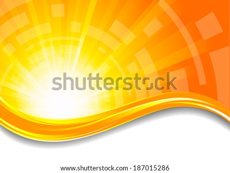 Background in orange color; clip-art, raster copy