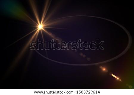 background light effect, space effect