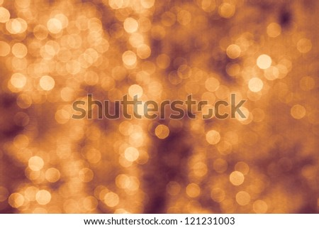 Background Lights Bokeh Abstract Orange Gold