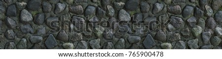background long effect panorama texture stone weathered gray covered moss dark pattern