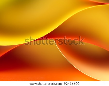 background macro image of colorful origami pattern made of curved sheets of paper