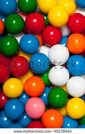Background Macro of gumballs