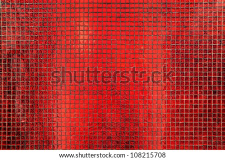 Background made from red tiles