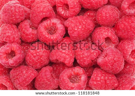 Background made from ripe, juicy, fresh raspberries