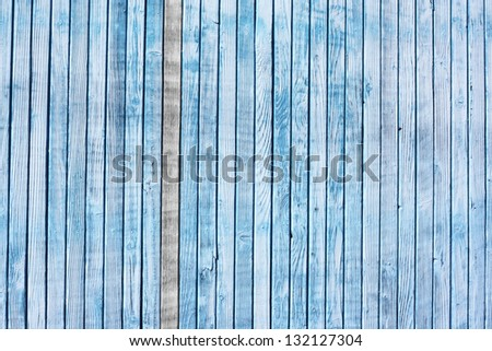 background made of blue painted wooden board