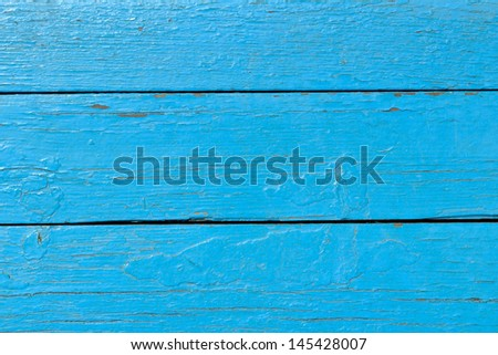 background made of boards covered with blue paint