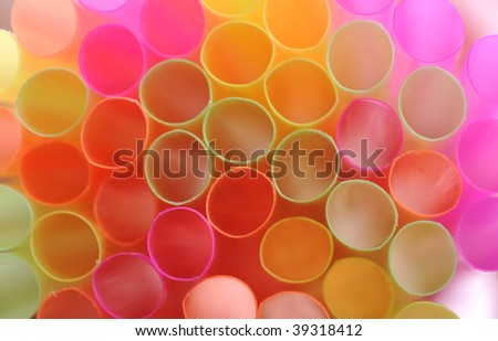 background made of color straws