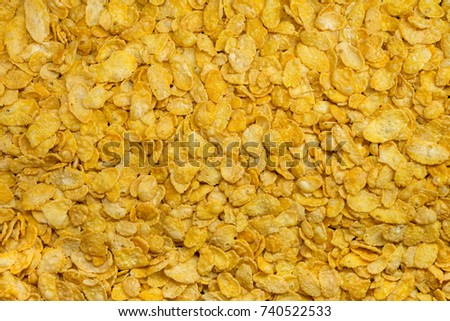 background made of cornflakes #740522533