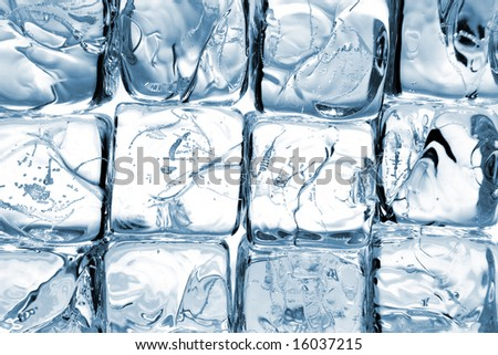 background, made of ice cubes