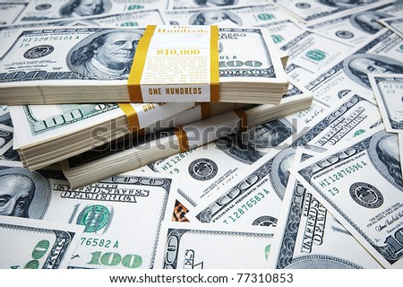 Background made of many dollars
