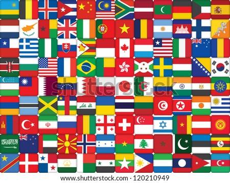 background made of world flag icons