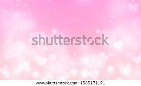 Background magic pink. Valentine day love heart background stock photo
