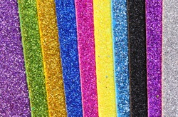 background many vertical stripes of multicolour glitter