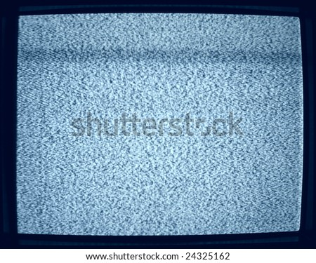 Background noise of flickering detuned TV screen