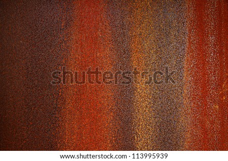 Background of a bumpy and rusty old iron surface