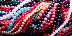 Background of a bunch of beads
