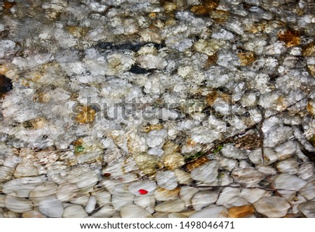 Background of a fountain with smooth stones