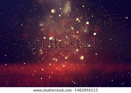 background of abstract Red glitter lights . defocused
