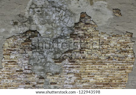 Background of aged brick wall texture