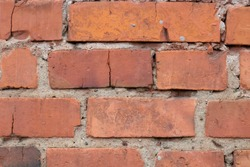 Background of an old brick wall.Red brick background