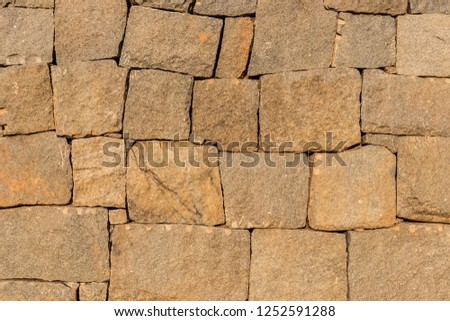 Background of ancient stone wall. Texture of old brick. #1252591288