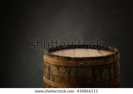 background of barrel wood ...
