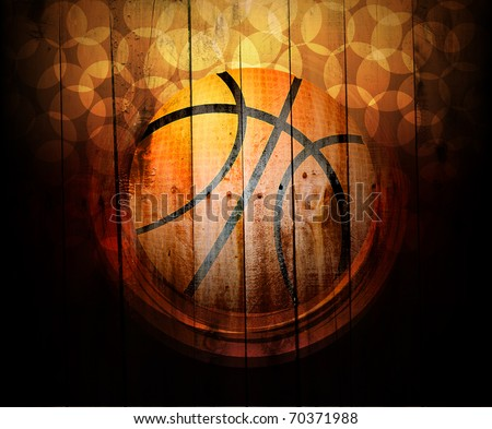 background of basketball sport. Digital graffiti on a wooden fence