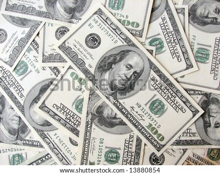 background of $100 bills