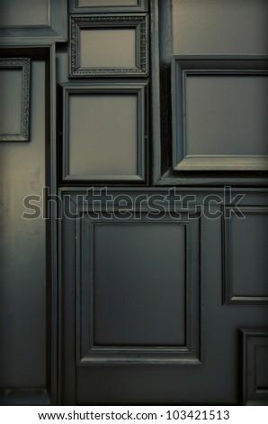 background  of black frame om black wall