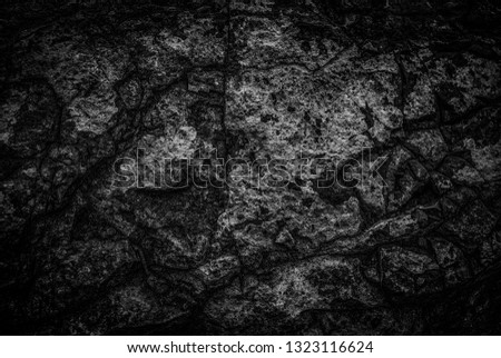 Background of black rock texture